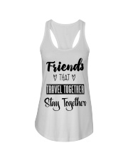 100 Friends That Travel Together Stay Together Wom Ladies Flowy Tank tile