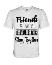 100 Friends That Travel Together Stay Together Wom V-Neck T-Shirt tile