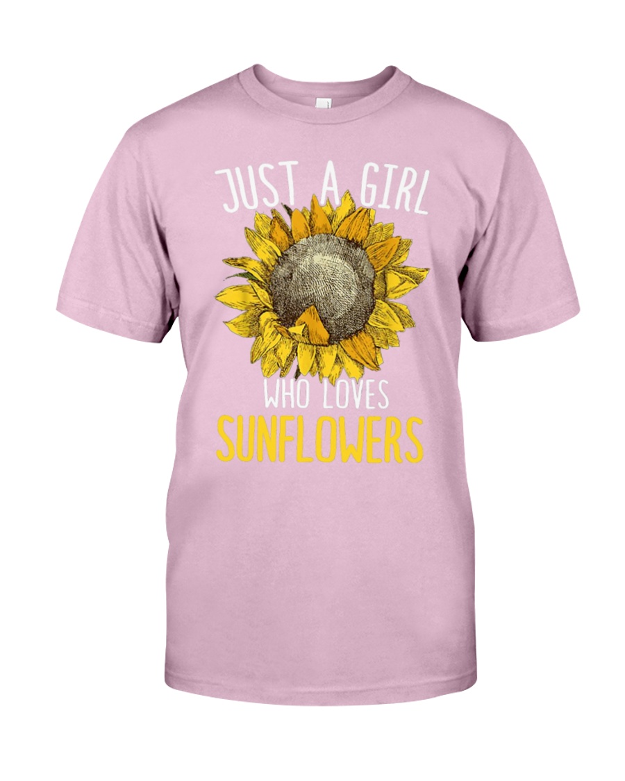 80Just A Girl Who Loves Sunflowers Funny Classic T-Shirt