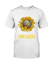 80Just A Girl Who Loves Sunflowers Funny Premium Fit Mens Tee thumbnail