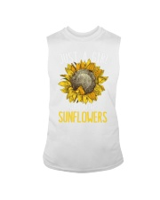 80Just A Girl Who Loves Sunflowers Funny Sleeveless Tee thumbnail