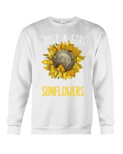 80Just A Girl Who Loves Sunflowers Funny Crewneck Sweatshirt thumbnail
