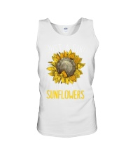 80Just A Girl Who Loves Sunflowers Funny Unisex Tank thumbnail