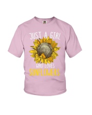 80Just A Girl Who Loves Sunflowers Funny Youth T-Shirt thumbnail