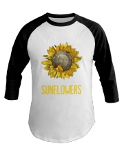 80Just A Girl Who Loves Sunflowers Funny Baseball Tee thumbnail