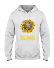 80Just A Girl Who Loves Sunflowers Funny Hooded Sweatshirt thumbnail