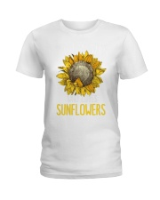 80Just A Girl Who Loves Sunflowers Funny Ladies T-Shirt thumbnail