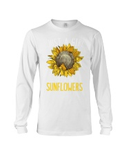 80Just A Girl Who Loves Sunflowers Funny Long Sleeve Tee thumbnail