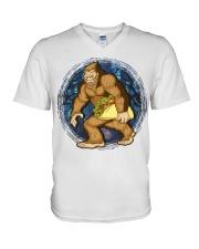 394Taco Sasquatch V-Neck T-Shirt thumbnail