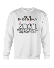 24th birthday the one where i was quarantined 2020 Crewneck Sweatshirt thumbnail