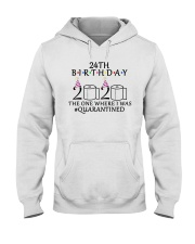 24th birthday the one where i was quarantined 2020 Hooded Sweatshirt thumbnail
