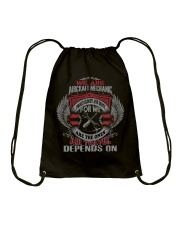 We Are AirCraft Mechanics Drawstring Bag thumbnail
