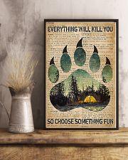 Camping Choose Something Fun 11x17 Poster lifestyle-poster-3