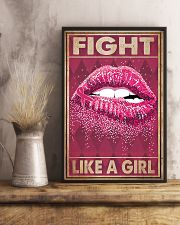 Breast Cancer Fight Like A Girl 11x17 Poster lifestyle-poster-3