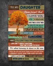 Family To My Daughter  Tree 11x17 Poster aos-poster-portrait-11x17-lifestyle-12