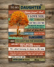Family To My Daughter  Tree 11x17 Poster aos-poster-portrait-11x17-lifestyle-14