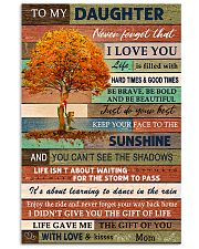 Family To My Daughter  Tree 11x17 Poster front