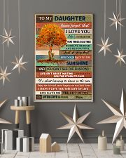 Family To My Daughter  Tree 11x17 Poster lifestyle-holiday-poster-1