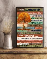 Family To My Daughter  Tree 11x17 Poster lifestyle-poster-3
