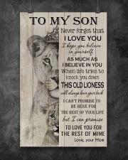 Family To My Son Lion 11x17 Poster aos-poster-portrait-11x17-lifestyle-12