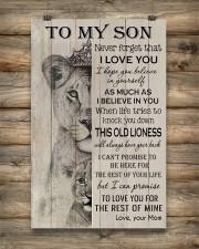 Family To My Son Lion 11x17 Poster aos-poster-portrait-11x17-lifestyle-14