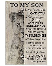 Family To My Son Lion 11x17 Poster front