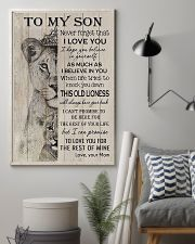 Family To My Son Lion 11x17 Poster lifestyle-poster-1