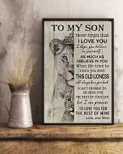 Family To My Son Lion 11x17 Poster lifestyle-poster-3