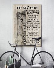 Family To My Son Lion 11x17 Poster lifestyle-poster-7