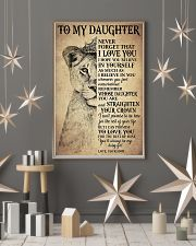 Family To My Daughter Love Mom 11x17 Poster lifestyle-holiday-poster-1