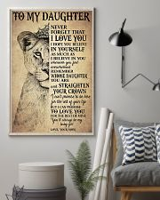 Family To My Daughter Love Mom 11x17 Poster lifestyle-poster-1