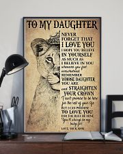 Family To My Daughter Love Mom 11x17 Poster lifestyle-poster-2
