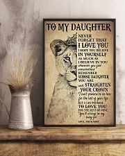 Family To My Daughter Love Mom 11x17 Poster lifestyle-poster-3