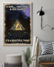 Camping A Girl And Her Dog 11x17 Poster lifestyle-poster-1