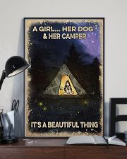 Camping A Girl And Her Dog 11x17 Poster lifestyle-poster-2