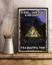 Camping A Girl And Her Dog 11x17 Poster lifestyle-poster-3
