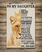 To My Daughter Lion Dad 11x17 Poster aos-poster-portrait-11x17-lifestyle-14