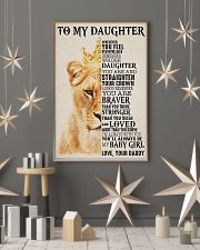 To My Daughter Lion Dad 11x17 Poster lifestyle-holiday-poster-1