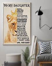 To My Daughter Lion Dad 11x17 Poster lifestyle-poster-1
