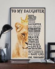 To My Daughter Lion Dad 11x17 Poster lifestyle-poster-2