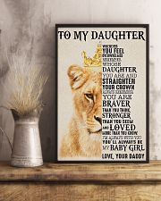 To My Daughter Lion Dad 11x17 Poster lifestyle-poster-3