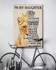 To My Daughter Lion Dad 11x17 Poster lifestyle-poster-7