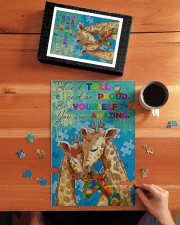 Autism Stand Tall And Be Proud You Are Amazing 250 Piece Puzzle (vertical) aos-jigsaw-puzzle-250-pieces-vertical-lifestyle-front-04