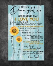 To My Daughter Never Forget Dad 11x17 Poster aos-poster-portrait-11x17-lifestyle-12