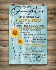 To My Daughter Never Forget Dad 11x17 Poster aos-poster-portrait-11x17-lifestyle-14
