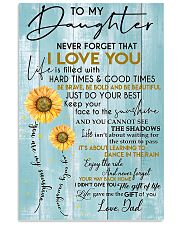 To My Daughter Never Forget Dad 11x17 Poster front