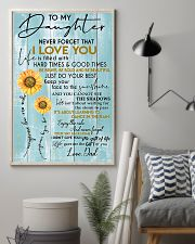 To My Daughter Never Forget Dad 11x17 Poster lifestyle-poster-1
