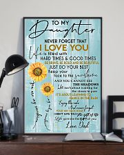 To My Daughter Never Forget Dad 11x17 Poster lifestyle-poster-2