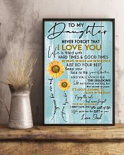 To My Daughter Never Forget Dad 11x17 Poster lifestyle-poster-3