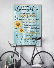 To My Daughter Never Forget Dad 11x17 Poster lifestyle-poster-7